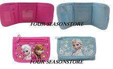 Disney Frozen Wallet Kids Coin Purse Anna Elsa Tri-Fold Bag Girls Licensed NEW