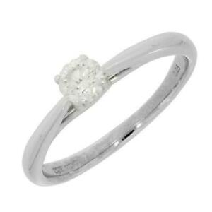 9ct Solitaire Engagement Ring White Gold 0.25ct Diamond CH875