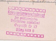 PRISONNIER 39 45 OFLAG XIII B. CENSEUR D17. CARTE LETTRE REPIQUEE. 1941.  L1060