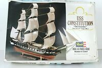 "1979 Revell vintage USS Constitution model ship kit ""Old Ironsides"" 15.75 in"