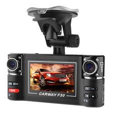 """120° Wide Angle 2.7"""" TFT Dual Lens Dash Cam DVR Car Camera Video Recorder F30 US"""