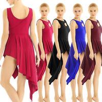 Lyrical Women Adult Latin Jazz Contemporary Dance Dress Ballet Leotard Dancewear