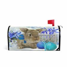 Wamika Easter Watercolor Rabbit Egg Magnetic Mailbox Cover MailWraps,Bunny Sprin