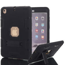 "Shockproof Heavy Duty Case Hard Stand Cover F Apple iPad Pro 2017 iPad 9.7"" for iPad Mini 4 Black"