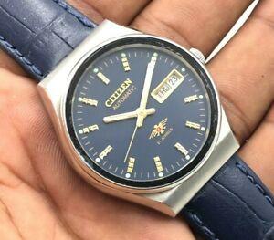 Vintage Men's Citizen 8200 Day Date 36mm Automatic 21-Jewels Wrist Watch A9569