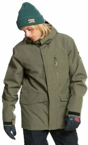 Quiksilver Mission Solid Snow Jacket - Grape Leaf Heather - New