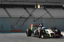Jolyon Palmer firmato, F1 Force India vjm07 Abu Dhabi GAS MARINA test 2014