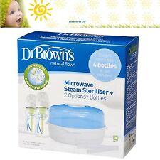 DR Brown's opzioni forno a microonde sterilizzatore con 2 x 270ml Bottiglie di flusso naturale