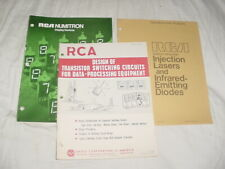 Vintage RCA Numitron Display Brochure, Semicond Selection Guides CTG161, OPT100A