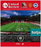 MANCHESTER UNITED Scored 2:1v BRIGHTON  PREMIER LEAGUE PROGRAMME 4/4/21 BUY NOW