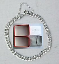 James Avery Double Twist .925 Sterling Charm Bracelet with Box, Pouch, & Insert