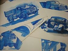 """ORIGINAL 1965 PAINTINGS - SKETCHES. TRANSPORT. 14"""" by 10"""" PEN & INK, WATERCOLOUR"""