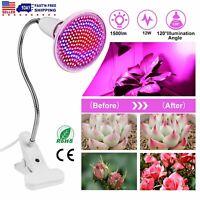 200 LEDs Plant Grow Light Bulbs Clip Holder Flower Growing Green House Aquarium