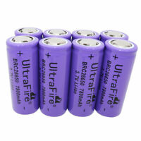 8PCS 26650 Li-ion Battery 7800mAh 3.7V Rechargeable Batteries for Flashlight Toy