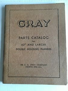GRAY DOUBLE HOUSING PLANER PARTS CATALOG