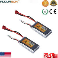 2x 2S 7.4V 1500mAh 35C Lipo Battery Deans for RC Airplane Car Truck Drone Heli