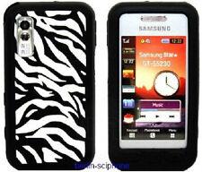 Silikon Schutz Hülle Samsung GT-S5230 Star Tasche Silikonhülle Schwarz ZEBRA