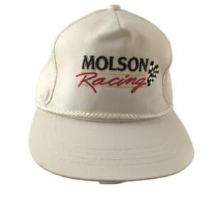 Molson Beer Indy Car Racing Embroidered Leather Strap Adjustable Hat Rope