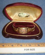VINTAGE MENS BULOVA WATCH ROYAL ADMIRAL 10k Rolled Gold Plate Bezel 0986401
