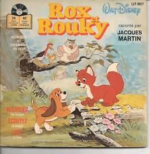 LIVRE DISQUE WALT DISNEY--ROX ET ROUKY--JACQUES MARTIN--