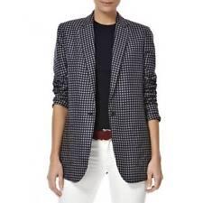 Silk Floral Button Coats & Jackets Blazer for Women