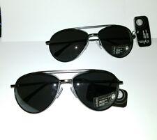 2-pairs-stylize-foster-grant-silver-gunmetal-aviator-sunglasses-max-uv-protect