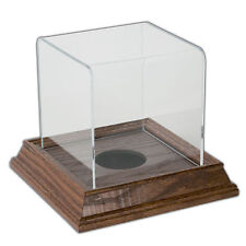 Mini Ball Display Case with Wood Base - Cherry
