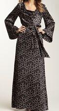Trina Turk Dress Sz S Daijah 100% Silk black & cream Bell Sleeves Women