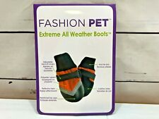 Fashion Pet Extreme All Weather Winter Dog Booties Pet Shoes Black & Red XXXS