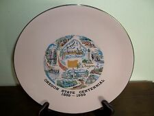 MAD FOR MID-CENTURY?  Very Unique Pastel Color! - Oregon Centennial  Plate