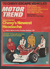 Motor Trend Magazine May 1972 Porsche Viceroy at Indy 500 Chevy