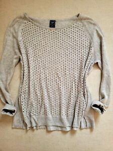 GAP grey unusual jumper sweater size S fits 10/12/14, oversized