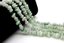 Burma Jade Chips Nugget Assorted Size Loos Natural Gemstone Beads - Full Strand