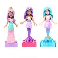Mattel Barbie Mega Bloks Mini 3 Packung Candy Prinzessin Gem Meerjungfrau Neuer