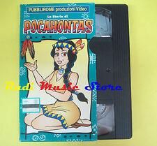 film VHS cartonata LA STORIA DI POCAHONTAS 1995 GOOD TIME animazione(F38) no dvd