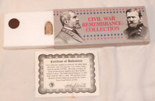 Civil War Remembrance Collection With Real Civil War Bullet, Coin,