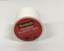 New listing Scotch Color Plastic Tape 1.5� X 175� 191 White 2 Packs Of 6 Rolls