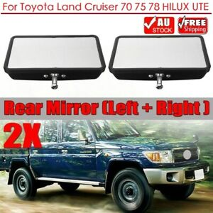 For Toyota Land Cruiser 70 75 78 HILUX UTE Pair Rear View Side Door Mirror Head