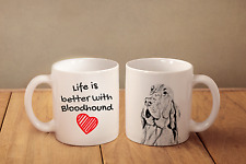 "Bluthund - ein Becher ""Life is better with"" Subli Dog, CH"