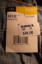 NEW w/tag Men's Lee Premium Select 34/32 Regular Straight Leg Blue Jeans PhanSY