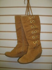 """Michael Kors Boots-size-6M-Leather Uppers Rubber Sole 14"""" tall"""