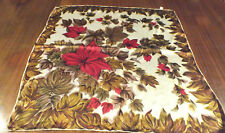Women's Vintage St Michael Flower Print Scarf M&S Marks & Spencer 27 inch square