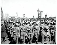 1946 Vintage Photo American Soldiers march Michigan Blvd on Army Day in Chicago
