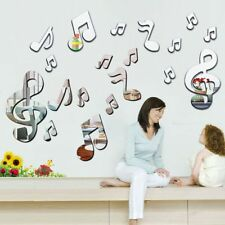 Musical Notes Acrylic 3D Mirror Wall Sticker Mural Decal Removable Stickers