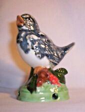 Bird E353 17.644 Ceramic Stormy Blue Bird on log Pie Bird