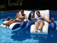 Intex Pool Floating Recliner Inflatable Lounge Float Chair 2 Cup Holders