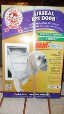"Ideal Air Seal Pet Door Medium 6 5/8"" x 11 1/4"" Cat Dog Doggie Brand New"