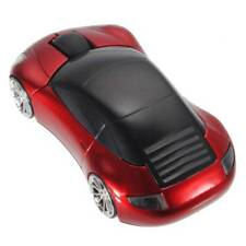 Red Wireless Mouse Car Shaped Game 2.4ghz USB Optical Mice For PC Ordinateur
