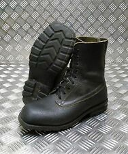 Genuine Vintage Leather 1970/80's Swedish Military Black SQ Toe Boots SBHT01