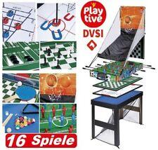 Spieltisch 16in1 Tischfußball Kicker Billard Schach Tischtennis Hockey Spiel BWa